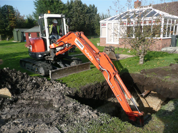 Cylindrical Septic Tank Installation