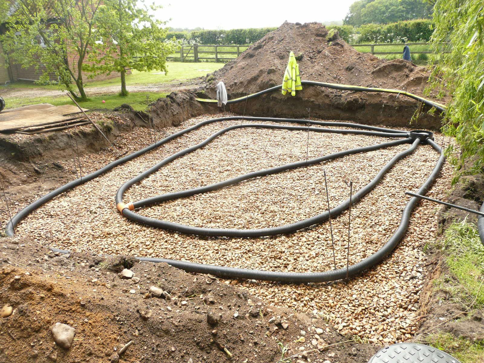 Installing a Land Drain / Stone Soakaway